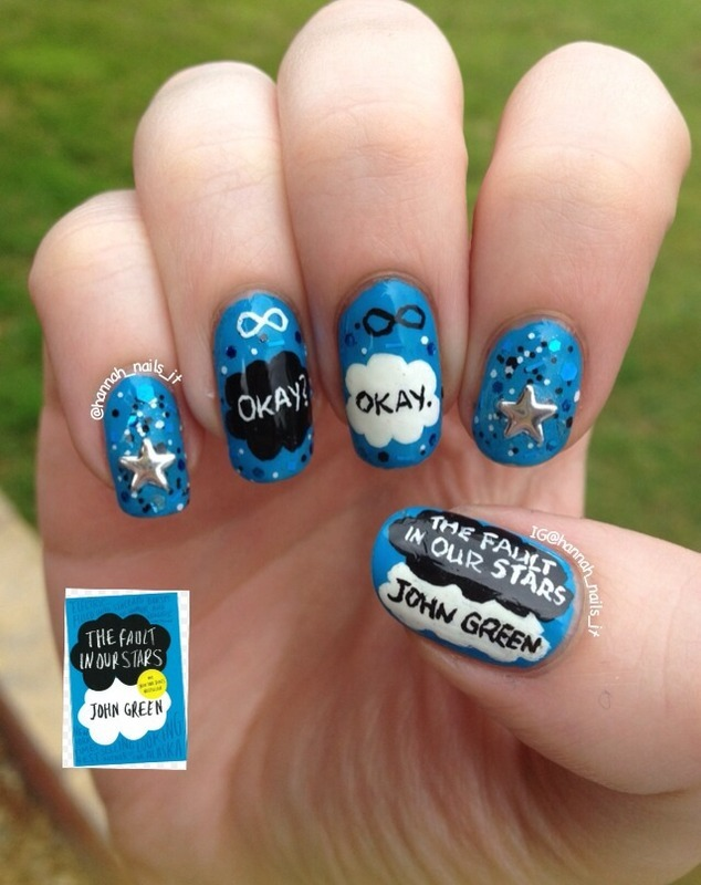 The Fault in our Stars nail art by Hannah