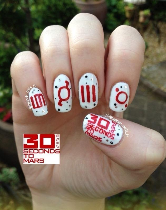 30STM nail art by Hannah