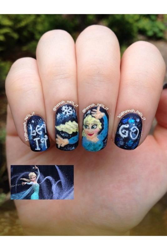 Let it Go nail art by Hannah