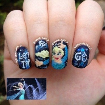 Let it Go nail art by Hannah