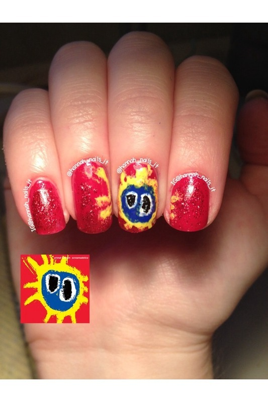 Screamadelica nail art by Hannah