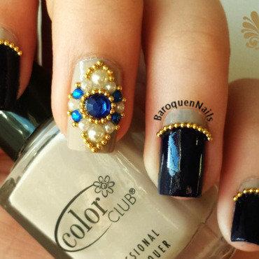 Royal Ruffian nail art by BaroquenNails