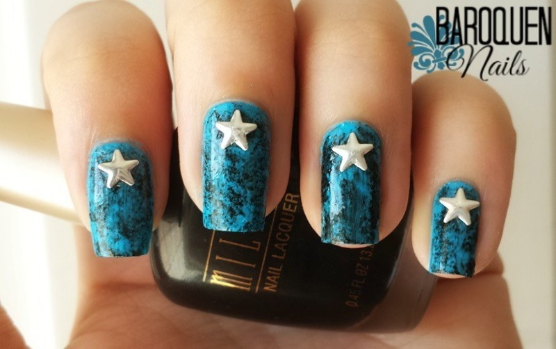 Independence Day Celebration   nail art by BaroquenNails