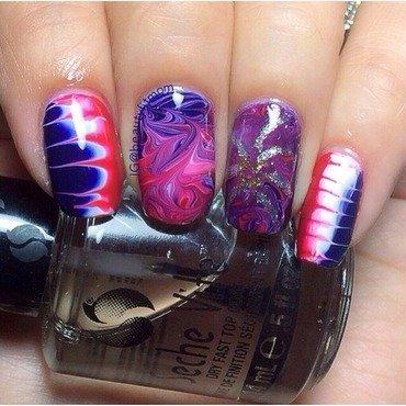 Dry marble nails  nail art by Beautyfitmom