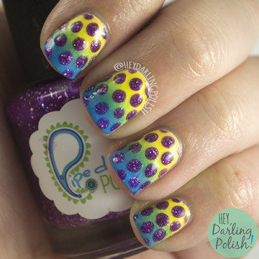 Nail challenge collaborative gradient dots nail art 4 thumb370f