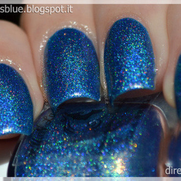 F.U.N Lacquer Dazzling Blue Swatch by MiseryLovesBlue