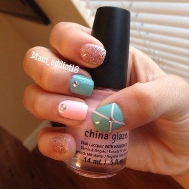 Pink Gift  nail art by S.M.R