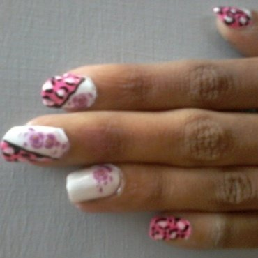neon lepord print nail art nail art by reena  dsa