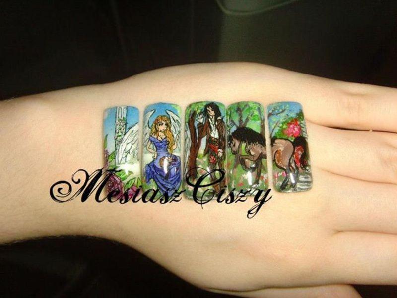 may love nail art by MesiaszCiszy