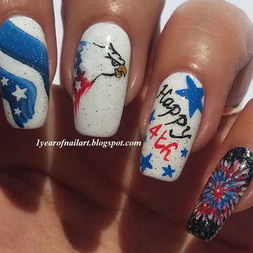 Happy 4th of July! nail art by Margriet Sijperda