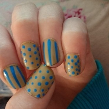 Spots and Stripes  nail art by Kelly Greenwood