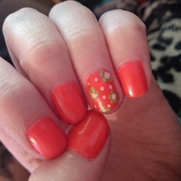 Flower Power nail art by Kelly Greenwood