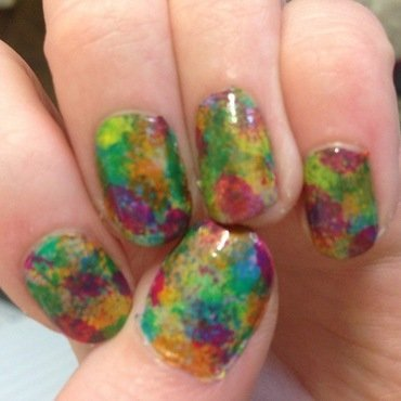 Messy Fun nail art by Kelly Greenwood