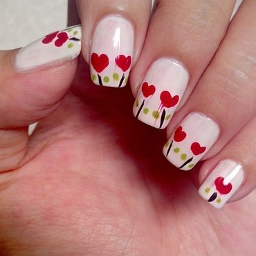 Plant Hearts nail art by Judy Ann Chio
