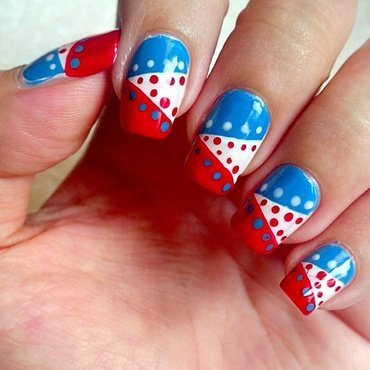 4th of July nail art by Judy Ann Chio