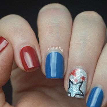 Americano Skittlette nail art by Bridget Reynolds