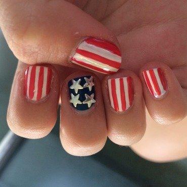 4th July nails nail art by Annienailz