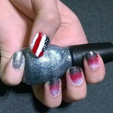 4th Of July 2014 nail art by JessJar19