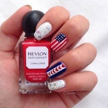 4'th of July ! 🎉 nail art by tesaw