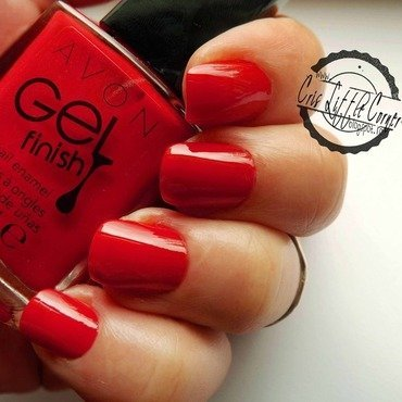 AVON Gel Finish - Candy Apple Swatch by Cris'