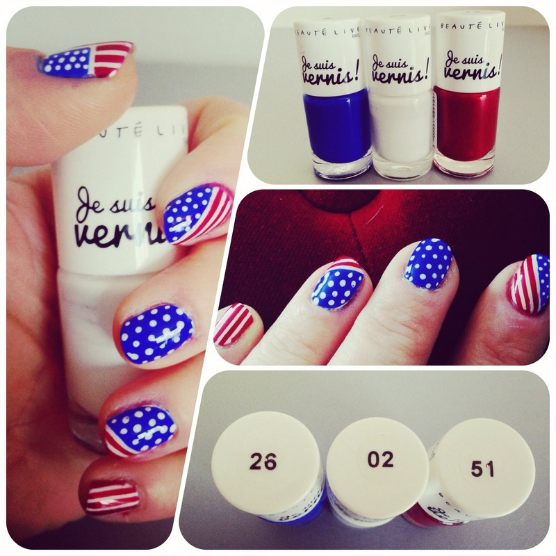 4th july for us nail art by Elodie Mayer