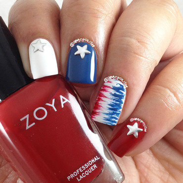 4th of July Mani nail art by Amber Connor