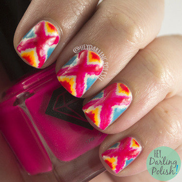 Oh mon dieu bright tribal pattern nail art 4 thumb370f
