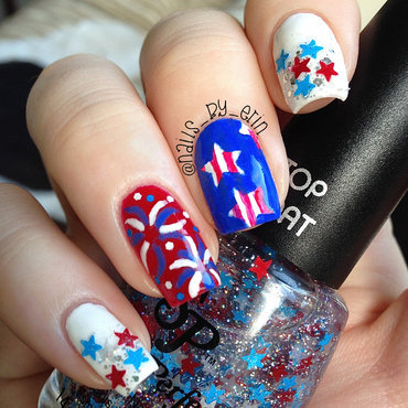 Mix and Match 4th of July Nails nail art by Erin
