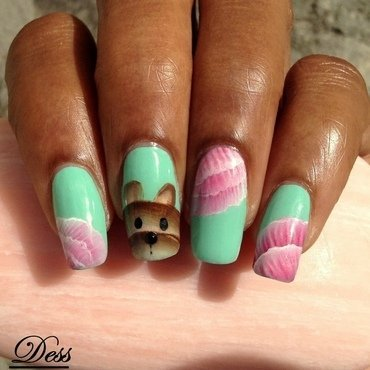 Cutie-Pie Teddy  nail art by Dess_sure