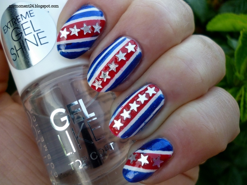 4TH OF JULY nail art by T. Andi