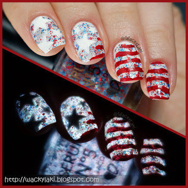4th of July nail art by Anutka