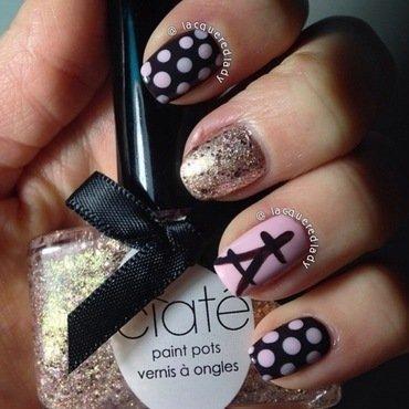 Paris, Je t'aime! nail art by LacqueredLady