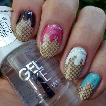 Ice cream nail art by T. Andi