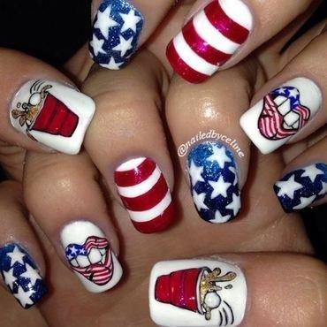 4th of July Party Nails nail art by NailedbyCeline