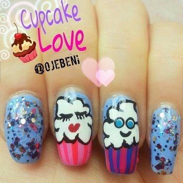 Cupcake Love nail art by ojebeni
