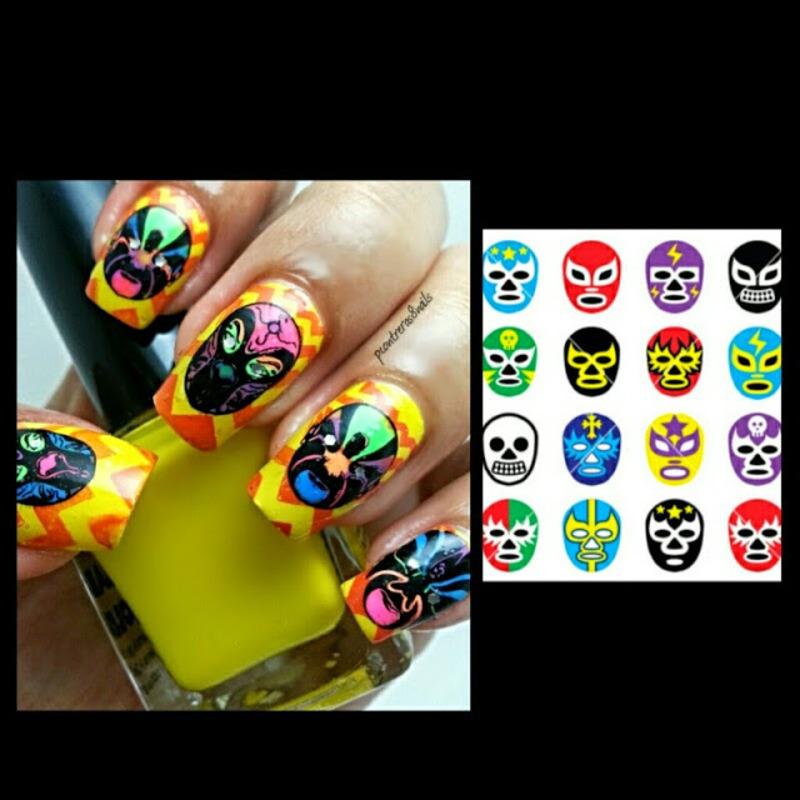 Lucha Libre Nails nail art by pcontreras8nails