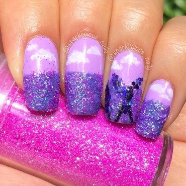 "Lavender Fields nail art by Amanda ""Sparklicious Nails"""