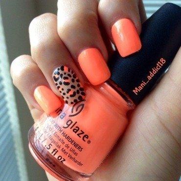 Summer Leopard nail art by S.M.R