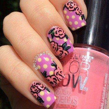 Floral nail art by PolishedJess