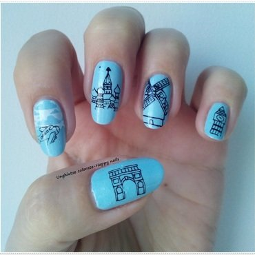 Journey to Europe nail art by Oana  Alexandru