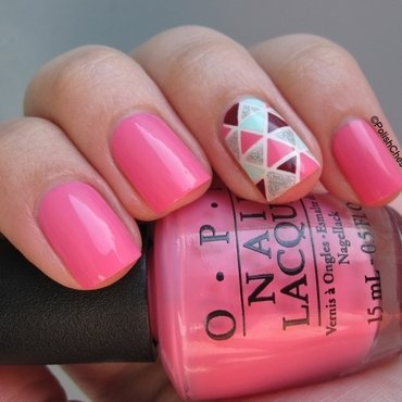 Summer Triangle nail art by Danny