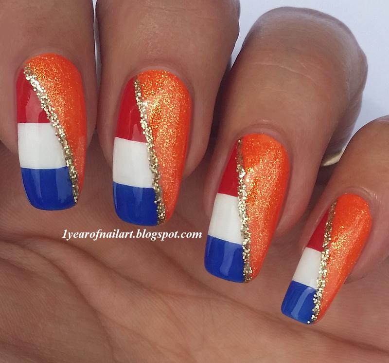 Good luck Holland! (World Cup 2014) nail art by Margriet Sijperda