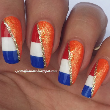 Good luck Holland! (World Cup 2014) nail art by Margriet Sijperda