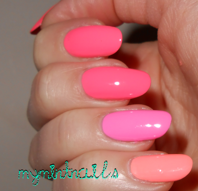 Polish For Tans Ombre nail art by MyMintNails