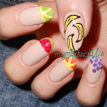 Fruit Tips nail art by MyMintNails