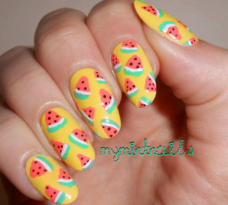 Lots of Watermelons nail art by MyMintNails