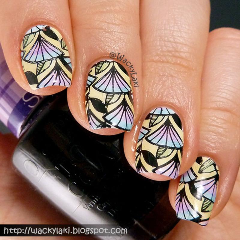 Egyptian Lead Light nail art by Anutka