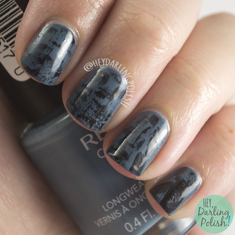 Dark And Distressed nail art by Marisa  Cavanaugh