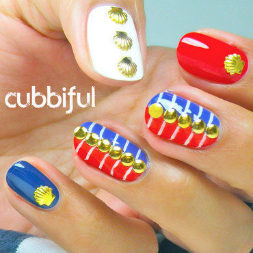 Nautical Love nail art by Cubbiful