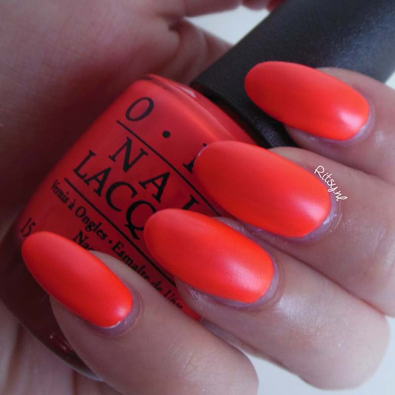 OPI Down To The Core-al and OPI Put a coat on Swatch by Ritsy NL